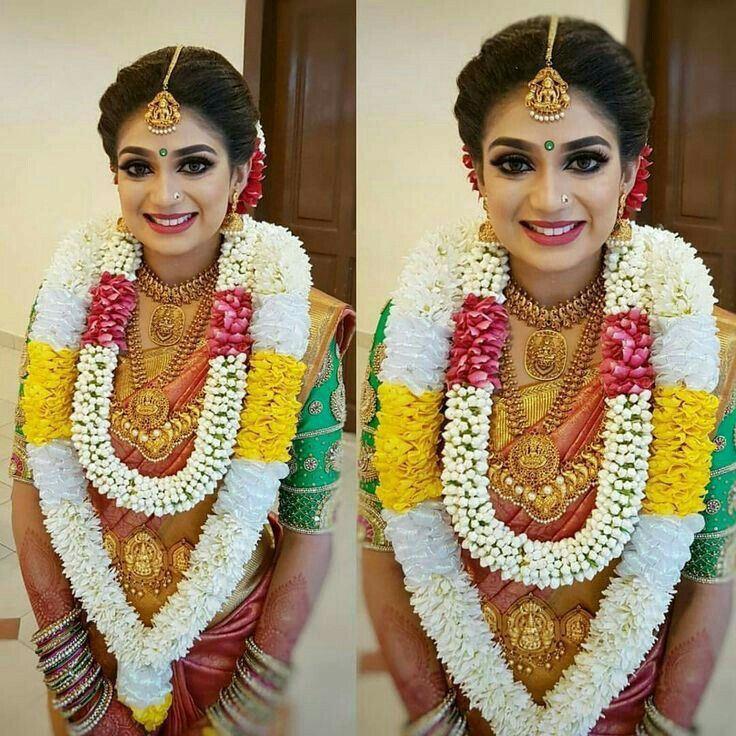 South Indian Bridal Hairstyles Wedding in 2020 | Indian bridal hairstyles, South indian bride ...