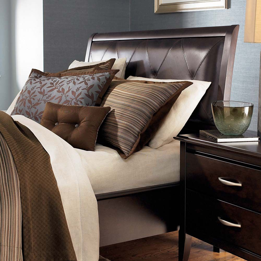 Missing Product My Home Style Upholstered Beds Brown Leather