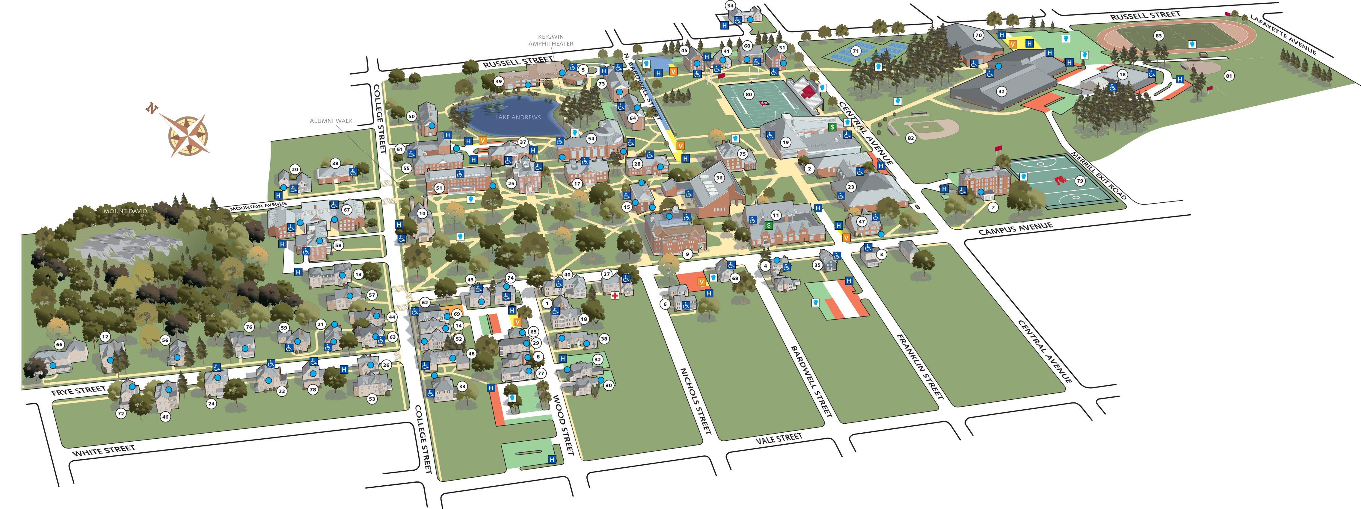 Auburn University Campus Map Auburn University Campus Map Printable | Print this Map (PDF