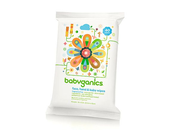 Best Eco-Friendly  The messiest places are sometimes the most sensitive too, which makes BabyGanics non-allergenic, plant-based wipes even more impressive: they're extra gentle yet still clean up tough messes. What we love:     They seemingly always stay moist, literally never leaving you high and dry    Buy it: $3, Toysrus.com