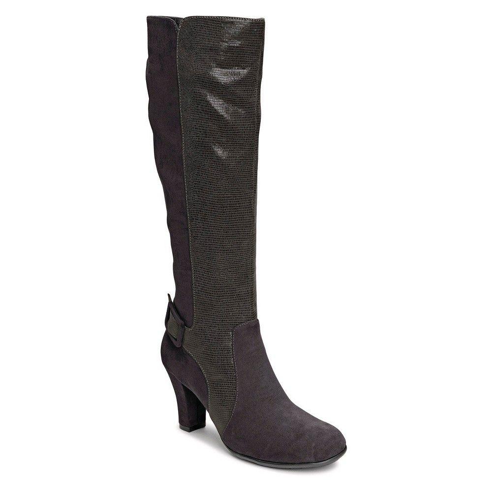 aerosoles black knee high boots
