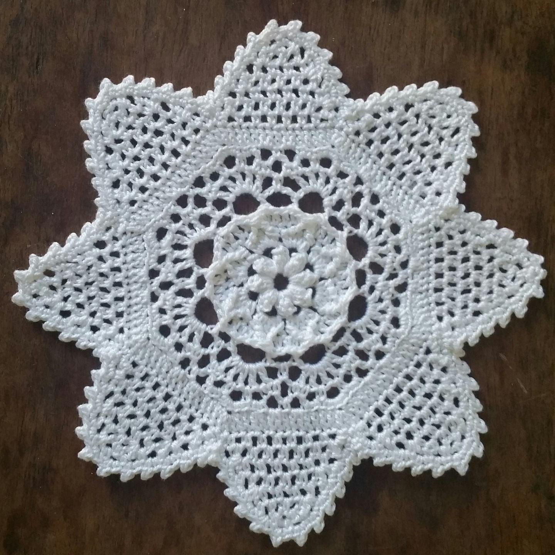 Original Petit Napperon Forme Etoile Blanc 14cm Textiles Et Tapis