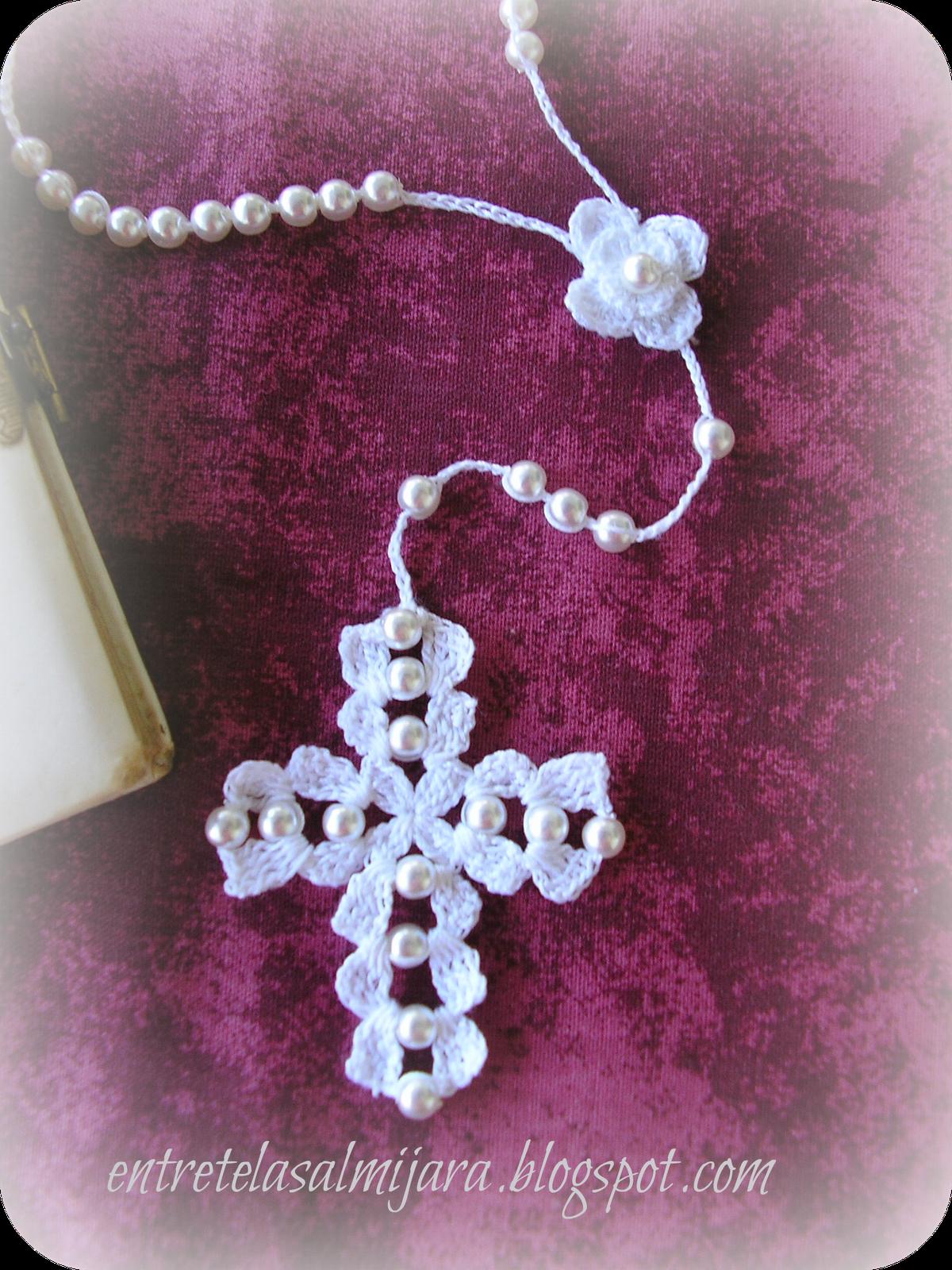 Entretelas: Rosario de crochet   CRUZES Y ANGELES   Pinterest ...