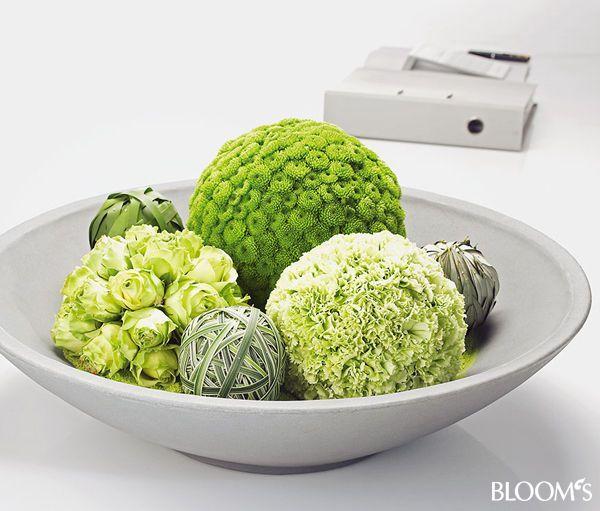 Floristik Ideen Blumige Schalen Deko Ball Blumige