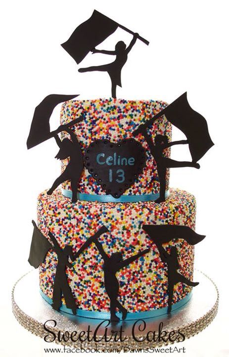 Birthday Cake Color Guard Cake Sprinkle Cake Sweetart