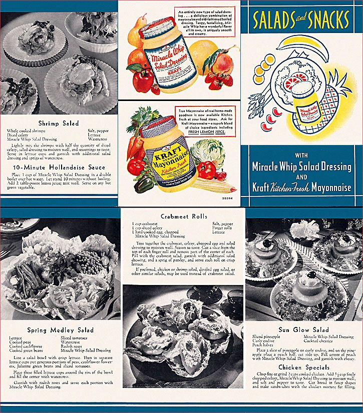 Kraft Miracle Whip/Mayonnaise Ad, c1933 Diet, Annoying