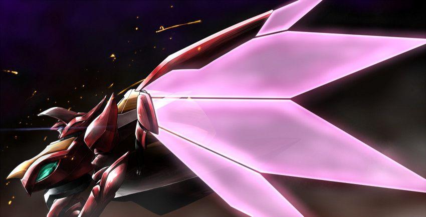 コードギアスのナイトメア紅蓮可翔式横向き姿