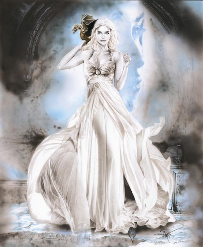 Original art of Daenerys Targaryen from Game of Thrones by ...
