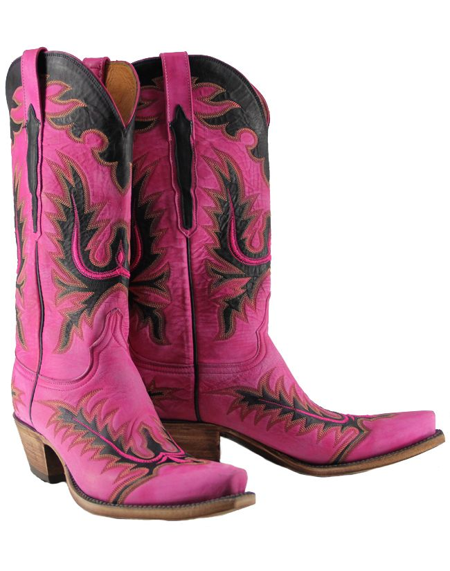 Lucchese Classic Handmade Hot Pink Destroyed Cowgirl Boots Item ...