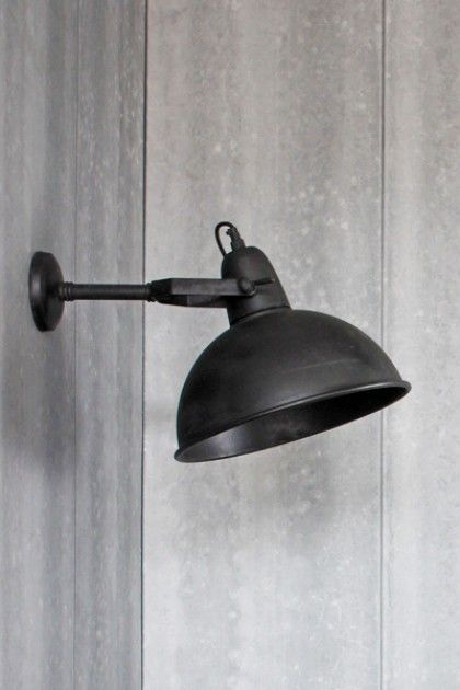 Giant Black Warehouse Wall Light