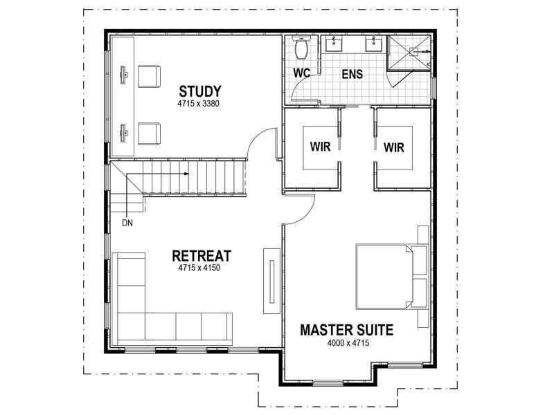 Second Storey Extension Floor Plans Master Bedroom Retreat Building Extension