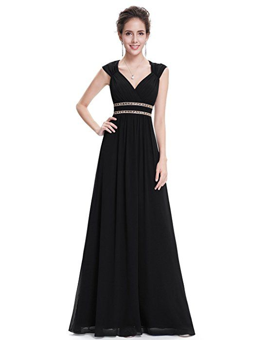 fb35657b2b Ever Pretty Womens Formal Sleeveless V-Neck Long Evening Dress 8 US Black