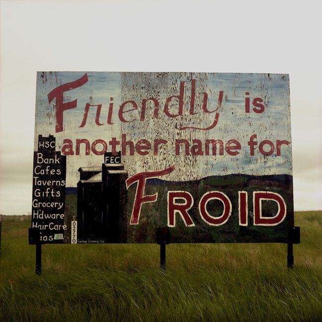 Steve Fitch - Welcome sign in Froid, Montana, June 1998
