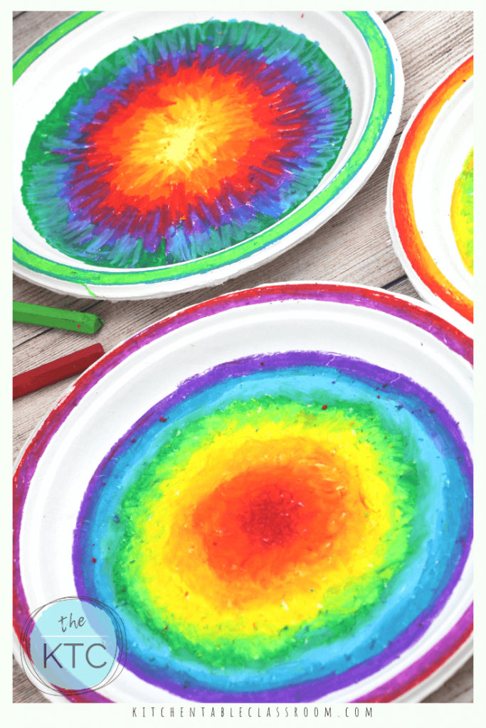 DIY Scratch Art Colorful Paper Plate Mandalas is part of Scratch art, Pottery painting designs, Mandala, Paper plates, Tempera painting, Art - This simple mandala project turns a plain old paper plate into DIY scratch art  It's bright and colorful and a …