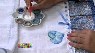 filo frigo pintura em fralda - YouTube