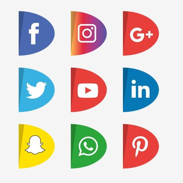 Social Media Icons Set Logo Vector Illustrator Social Icons Logo Icons Media Icons Png And Vector With Transparent Background For Free Download Facebook And Instagram Logo Social Media Icons Vector Logo