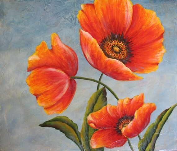 Hervorheben Von Hausern 253 Von 365 Blogaday Mohn Malerei Blumen Malen Acrylmalerei Blumen