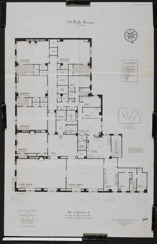 730 park avenue new york city planos de áticos y penthouse