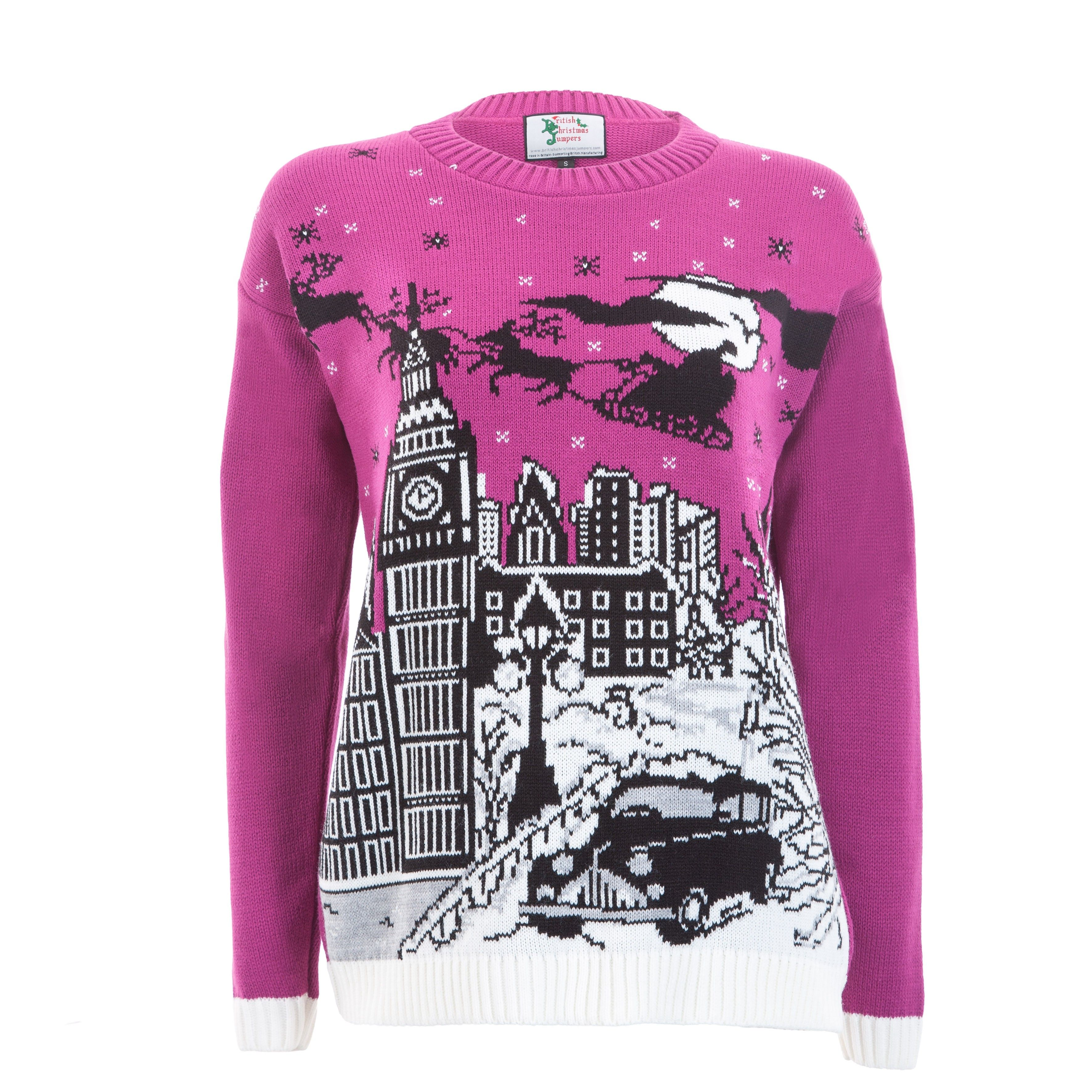 A London scene on this fabulous Christmas jumper. Womens