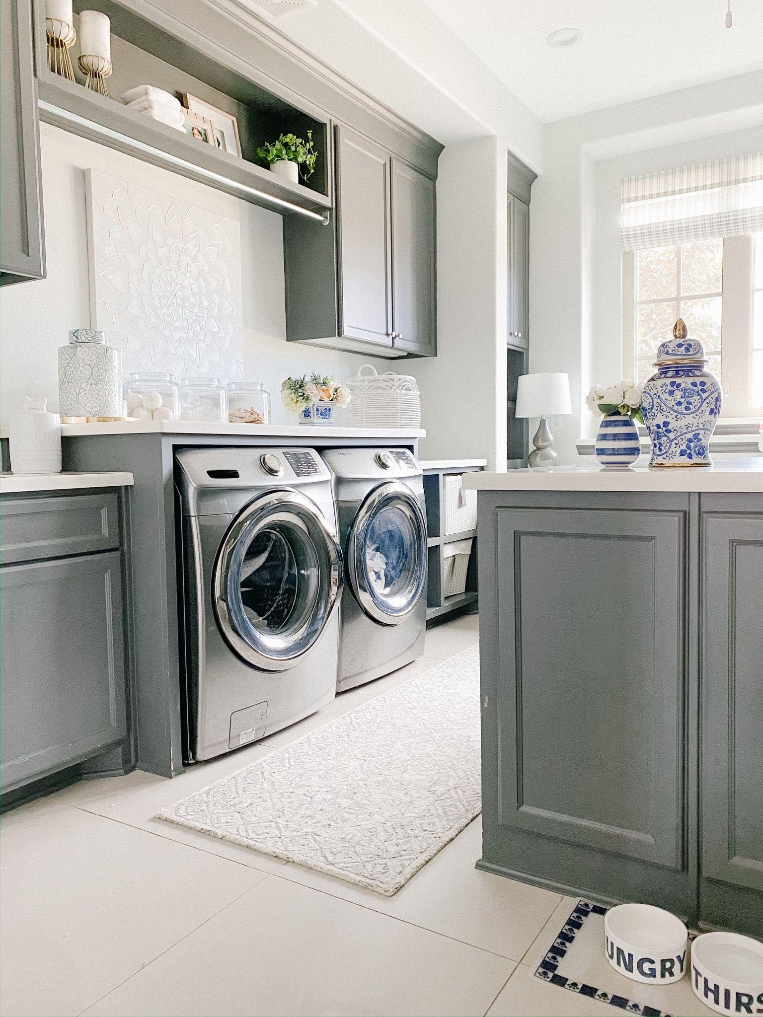 Gray Laundry Room