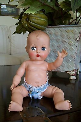 """8"""" Vintage Molded Hair Ginnette by Vogue - Sweet in Her Lace-Trimmed Diaper"""