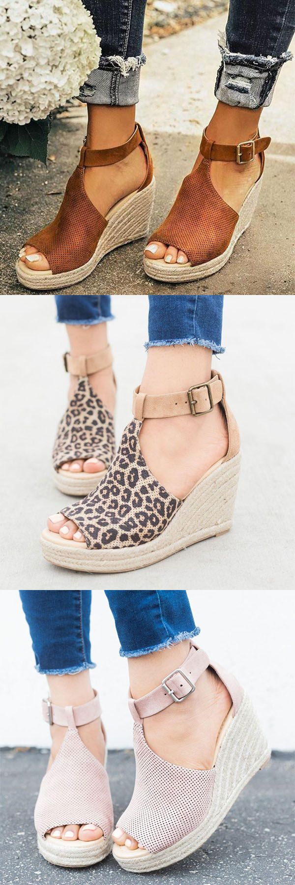 Hot Sale!Women Chic Espadrille Wedges Adjustable Buckle Sandals -   25 mexican style clothes