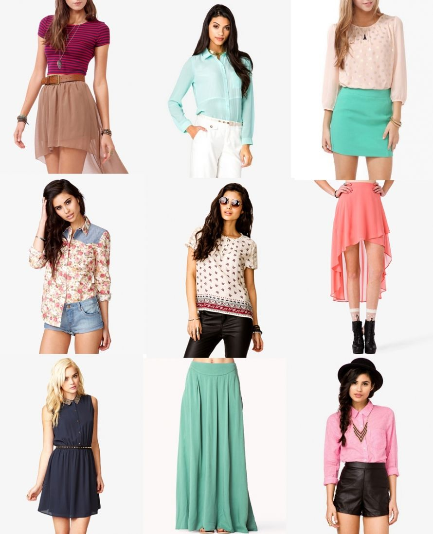 These are examples of outfits from Forever 21, a popular teen ...