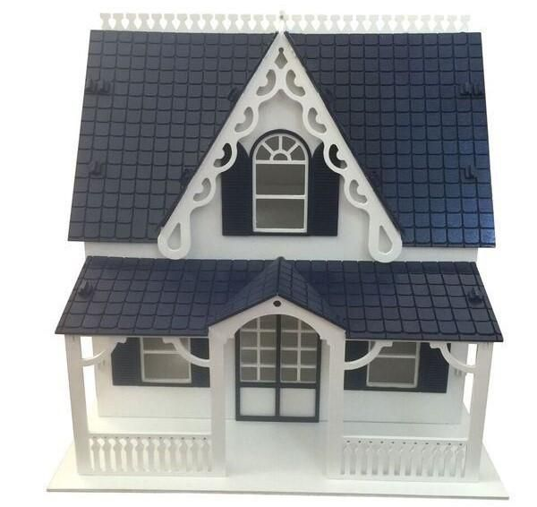 English Manor Dollhouse Painted//Assembled
