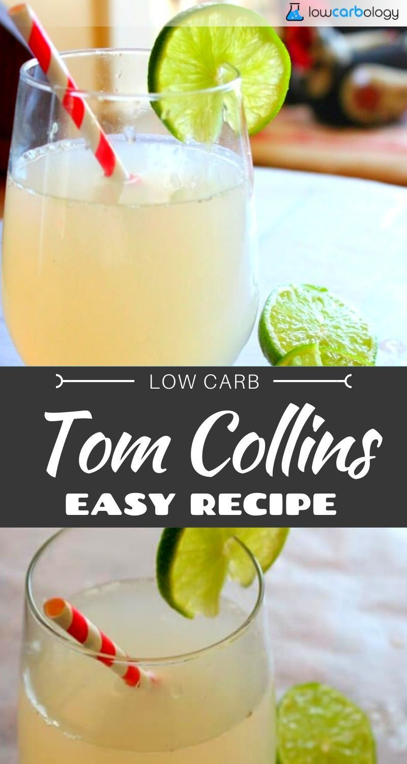 Lowcarb-ology | Comfort Food Recipes, Without the Carbs! Low-carb Tom Collins - a classic cocktail