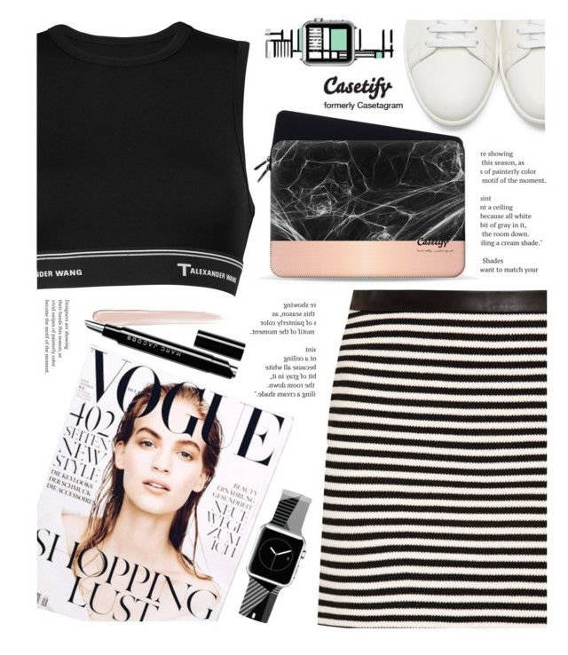 """Casetify"" by yexyka ❤ liked on Polyvore featuring Yves Saint Laurent, T By Alexander Wang, Casetify, Balmain and Marc Jacobs"