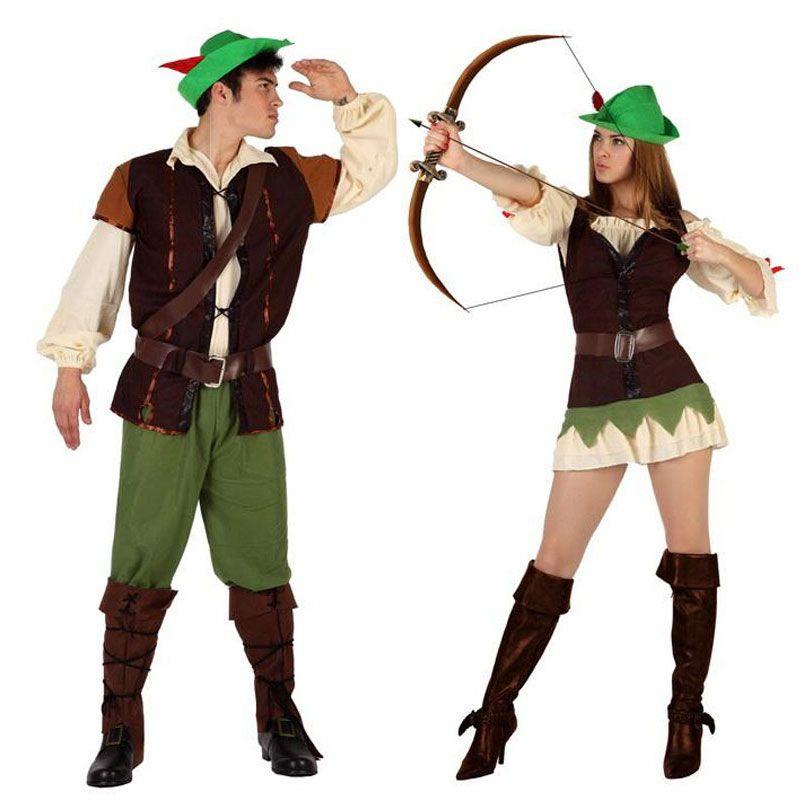 Pareja disfraces de hombre y mujer del bosque parejas for Disfraces parejas adultos