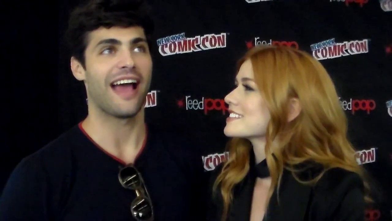 Shadowhunters Matt Daddario Kat Mcnamara Nycc 2017 With