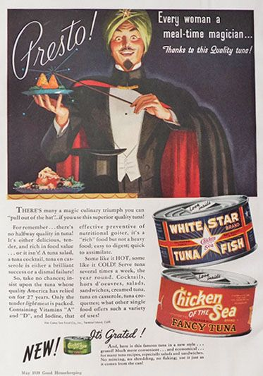 1939 Good Housekeeping Chicken of the Sea Tuna ad | VINTAGE ...