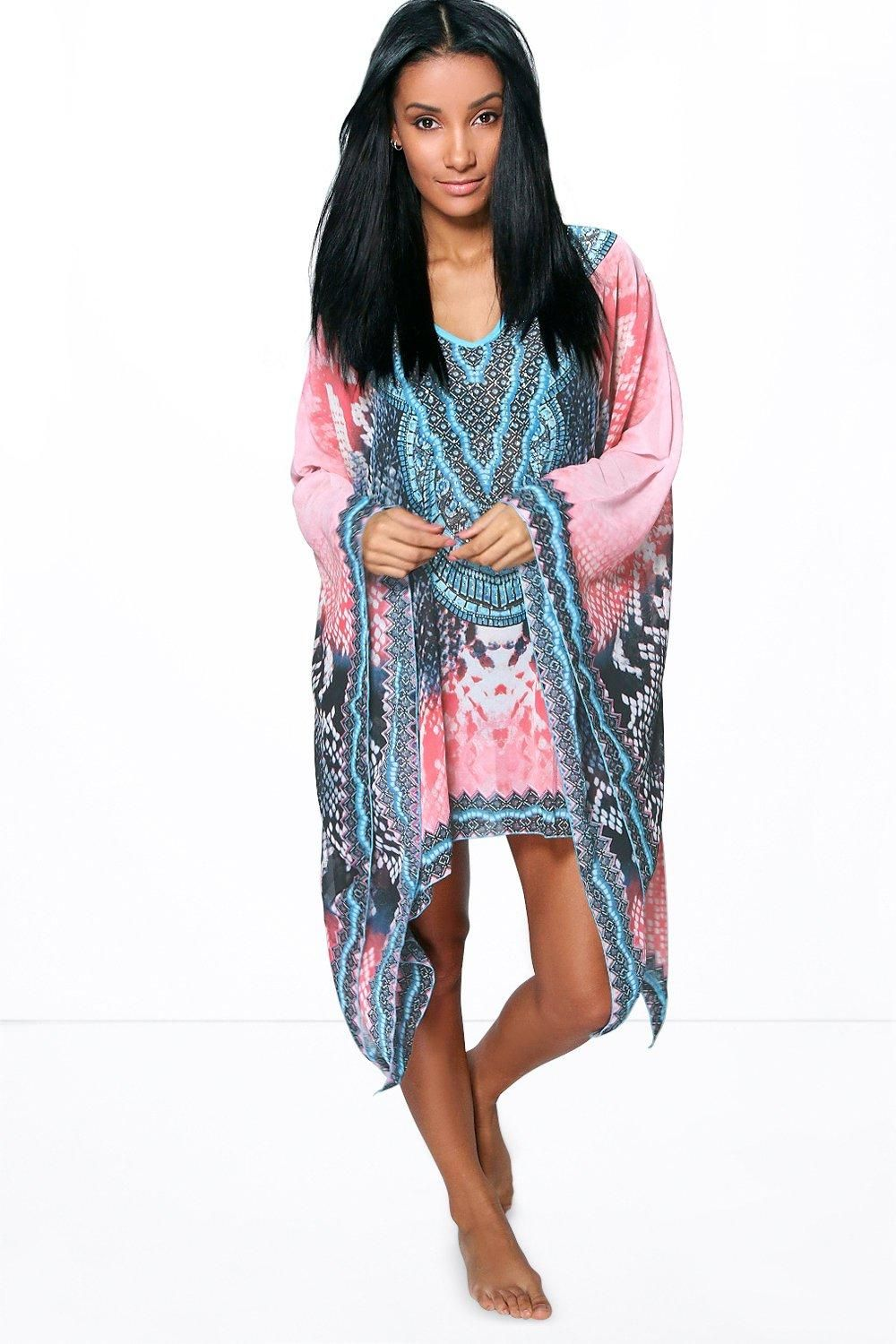 069c66adf3bd3 Evie Snake Print And Diamante Beach Cover Up | Get in my Wardroom ...