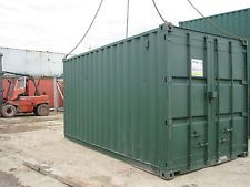 20FT x 8FT STEEL STORAGE SHIPPING CONTAINER TO HIRE - LANCASHIRE BASED