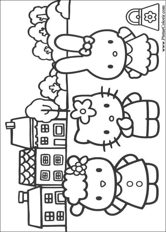 サンリオ ぬりえ 無料 Google 検索 イラスト Hello Kitty Coloring