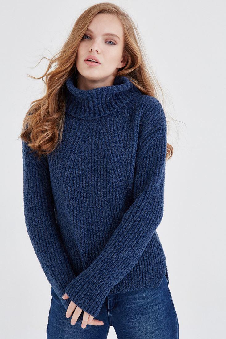Mavi Kalin Bogazli Kazak Online Alisveris Oxxo Fashion Turtle Neck Sweaters