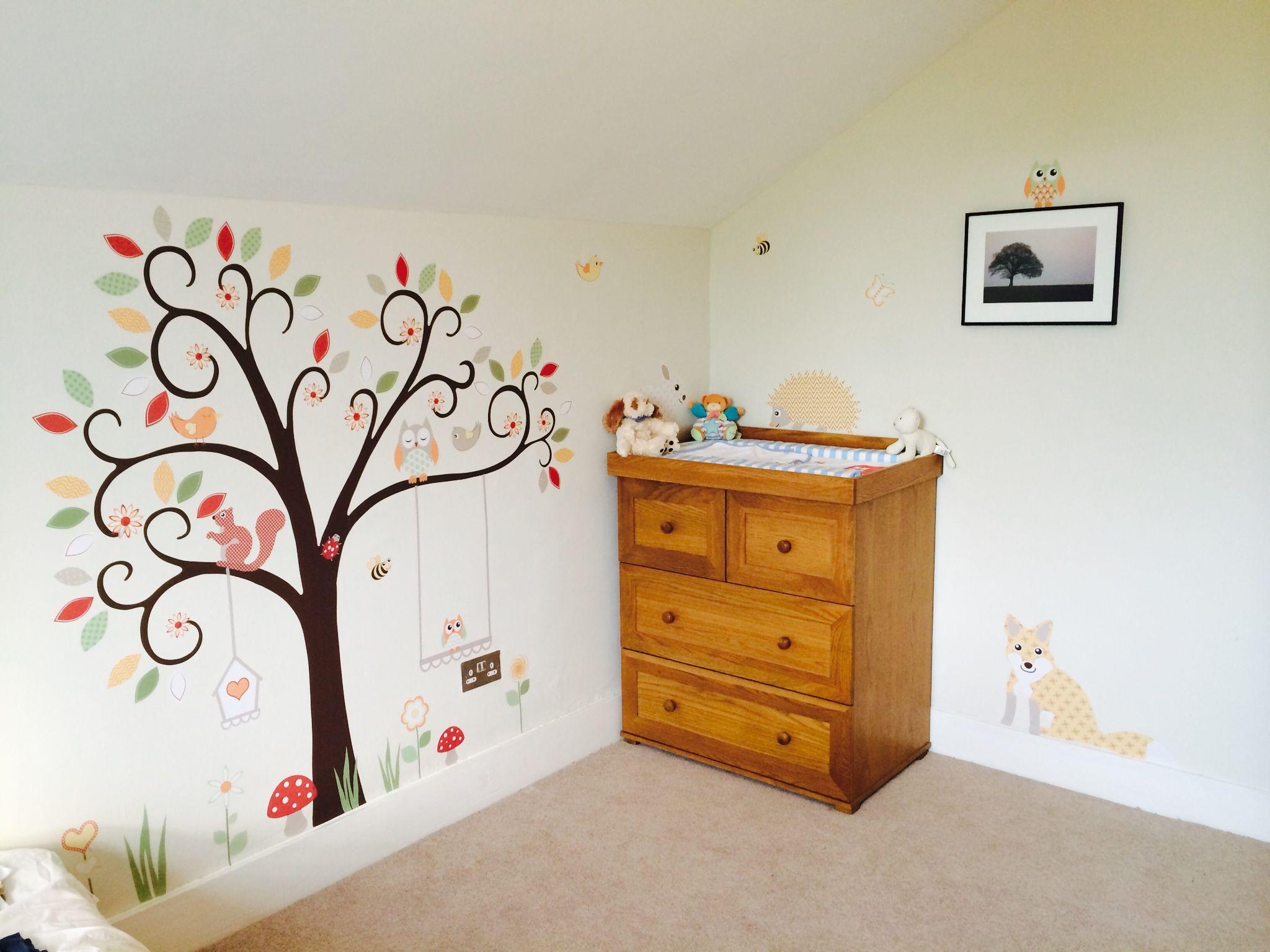 Enchanted Interiors Woodland Animal Premium Self Adhesive Fabric Nursery  Wall Art
