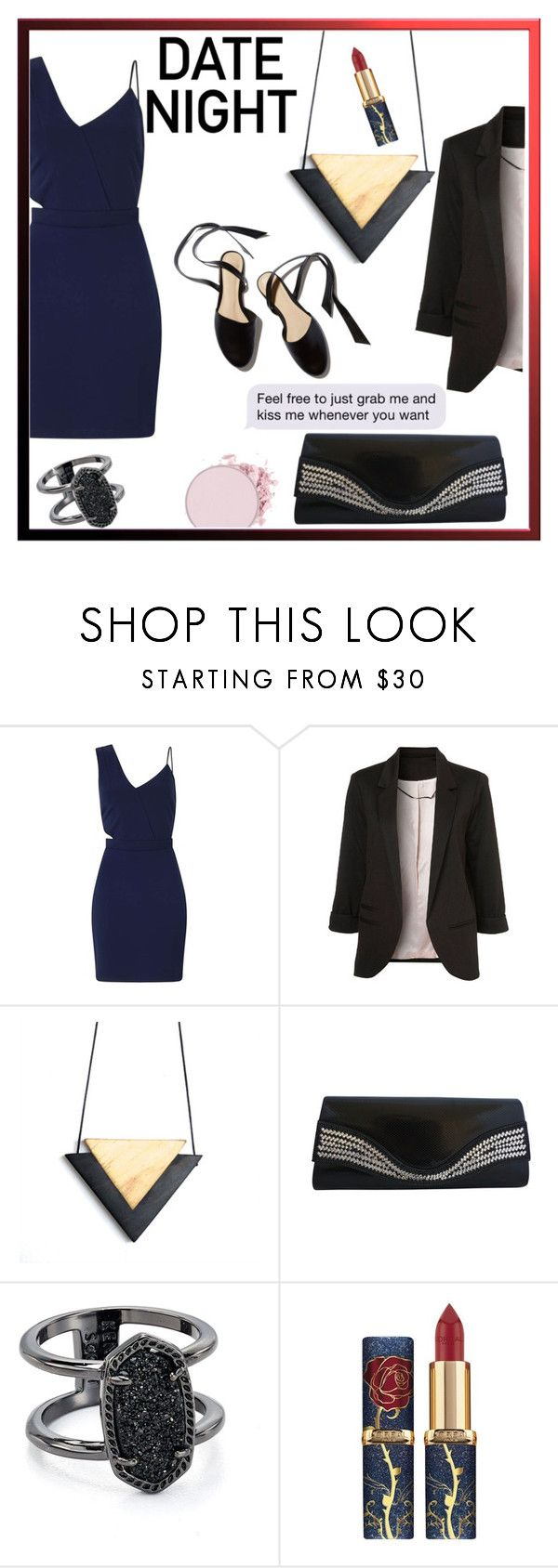"""""""date night"""" by elisabetta-negro ❤ liked on Polyvore featuring Miss Selfridge and Kendra Scott"""