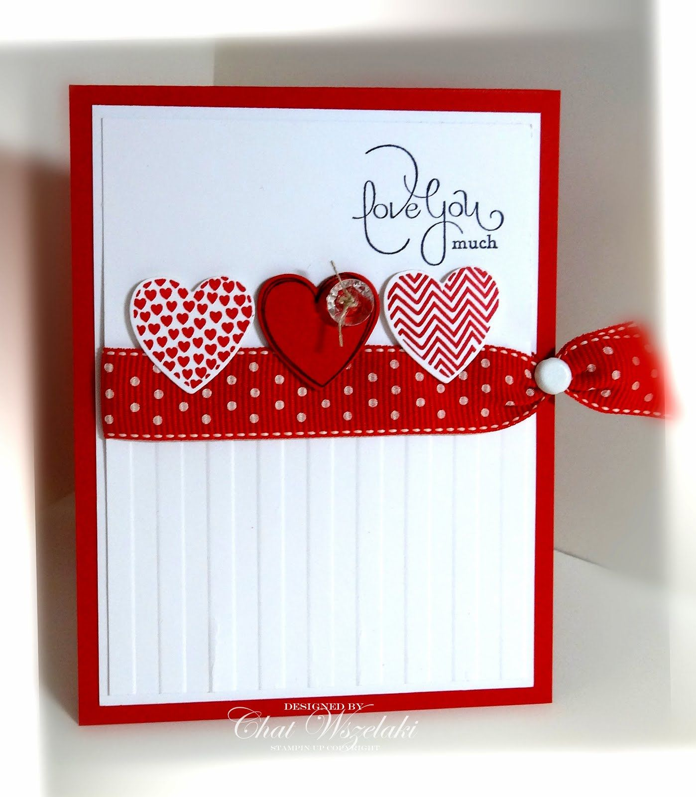 Stampin Up Valentine By Chat Wszelaki At Me My Stamps And I Love