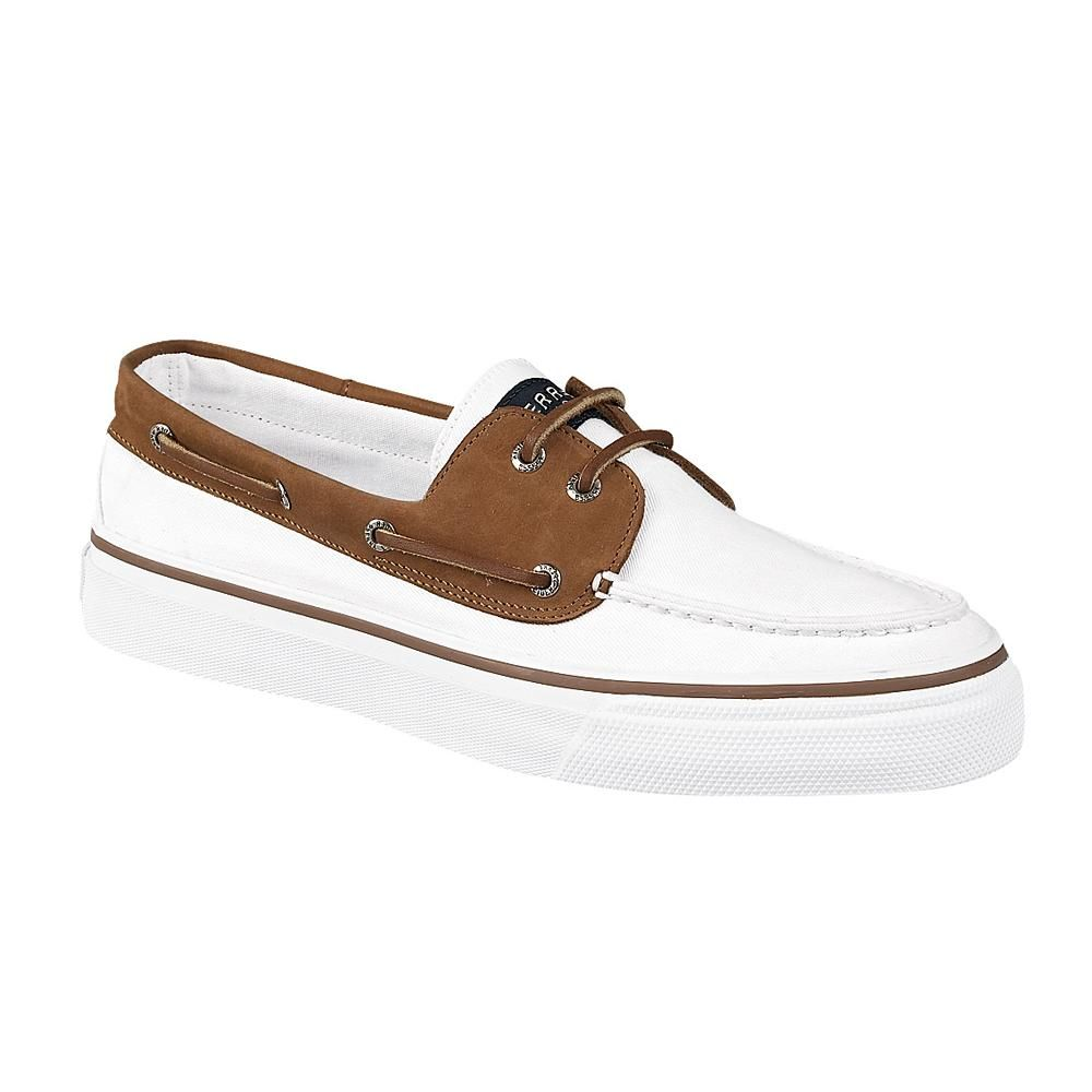 Mens Sperry Top-Sider Bahama Casual Shoe - White