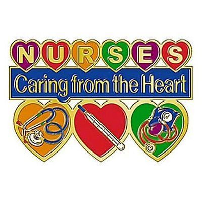 NURSES-CARING-FROM-THE-HEART-LAPEL-PIN-GREAT-GIFT-NEW