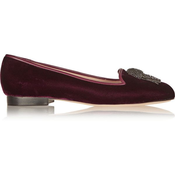 New Concept Oscar De La Renta Burgundy Ciciclo Velvet Loafers