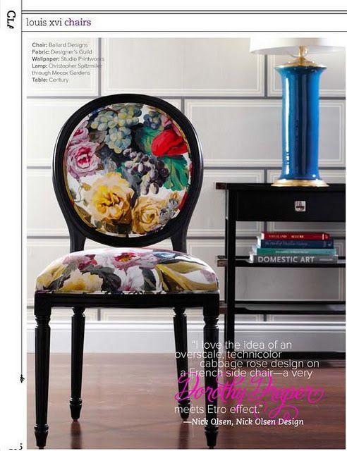 Hazardous Design Ballard Designs Chairs Decor Floral Chair
