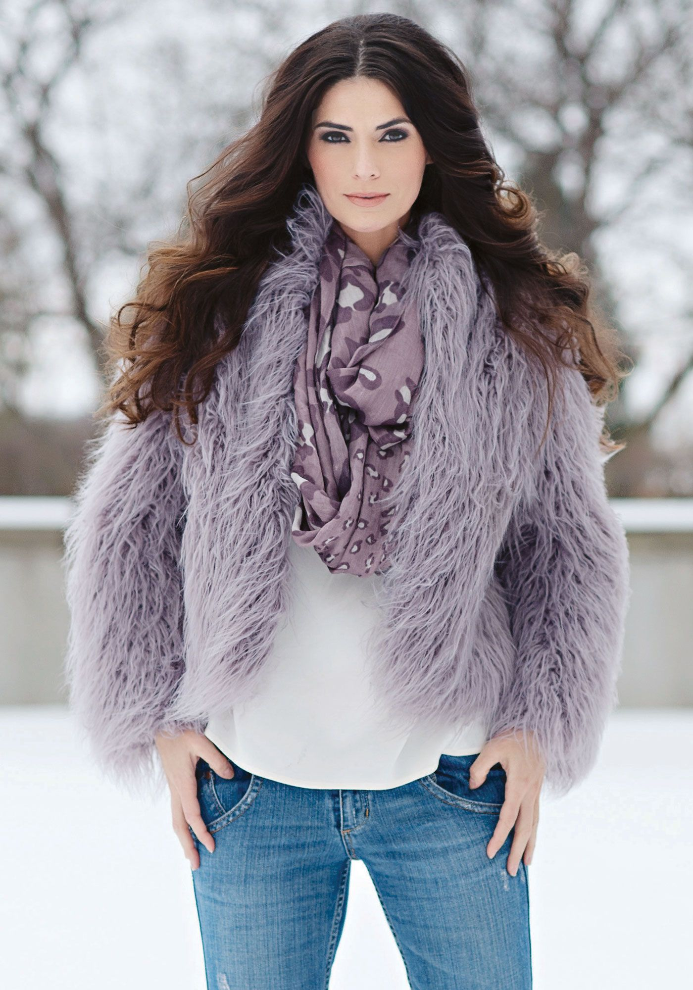 Coyote Hooded Faux Fur Jacket | Coats, Models and Lavender