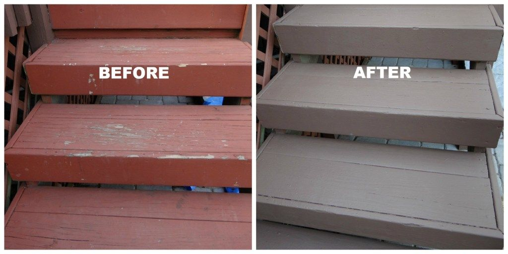how to repaint a deck railing