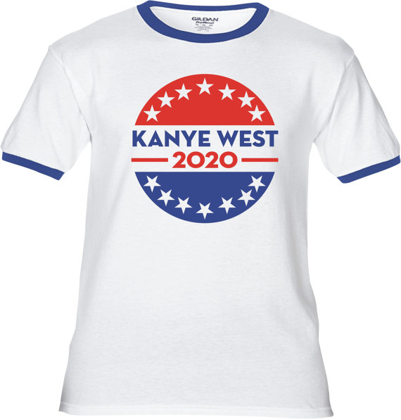 Kanye West 2020 For President Premium T Shirt Many Color Etsy In 2020 T Shirt Adulting Shirts Shirts