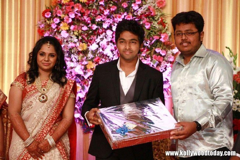 Saisaran At Gv Prakash And Saindhavi Marriage Reception