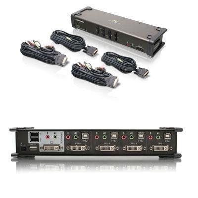 4 Port DVI Kvmp Swtch Audio Cb