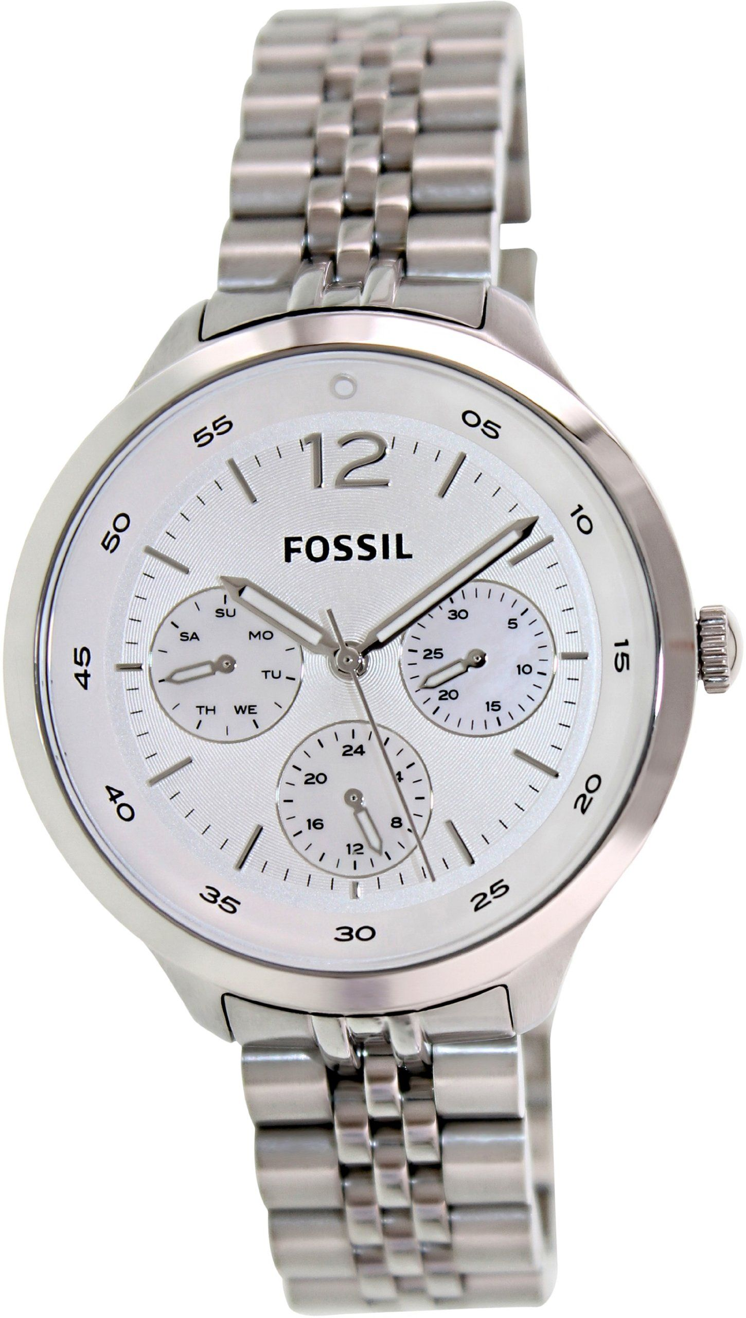 Fossil Womens Georgia Es3247 Silver Stainless Steel Quartz Watch Cecile Multifunction And Acetate Am 4632 With Dial Amazoncouk Watches